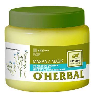 O'Herbal maska do włosów suchych i zniszczonych nawilżająca 500 ml