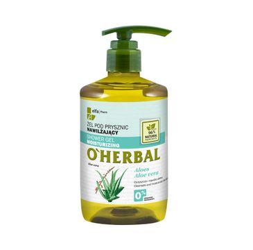 O'Herbal Shower Gel Moisturizing żel pod prysznic nawilżający z ekstraktem z aloesu 750ml