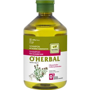 O'Herbal szampon do włosów farbowanych z macierzanką i tymiankiem 500 ml