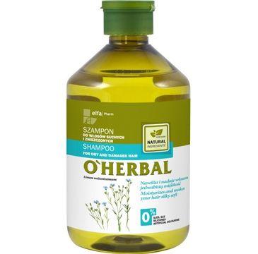 O'Herbal szampon do włosów suchych i zniszczonych z lnem 500 ml