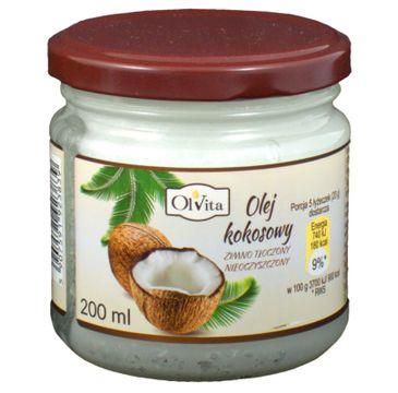 Olvita Olej Kokosowy tłoczony na zimno nieoczyszczony 200ml