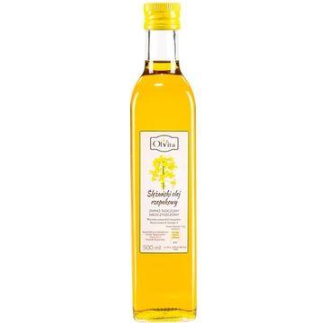 Olvita Ślężański Olej Rzepakowy tłoczony na zimno nieoczyszczony 500ml