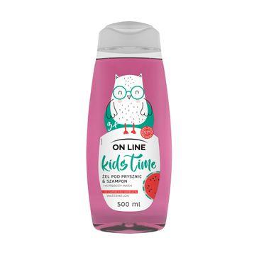 On Line Kids Time 2w1 żel pod prysznic i szampon Arbuz (500 ml)