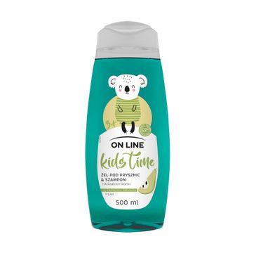 On Line  Kids Time 2w1 żel pod prysznic i szampon Gruszka (500 ml)