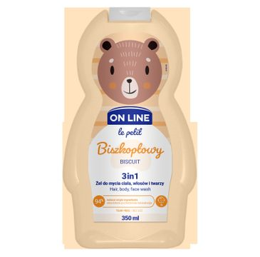 On Line –  Le Petit Żel 3w1 do mycia ciała, włosów i twarzy  dla dzieci Biszkoptowy (350 ml)
