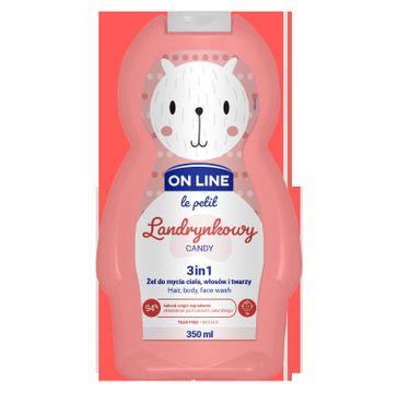 On Line – Le Petit Żel do mycia ciała,włosów i twarzy 3w1 dla dzieci Landrynkowy (350 ml)