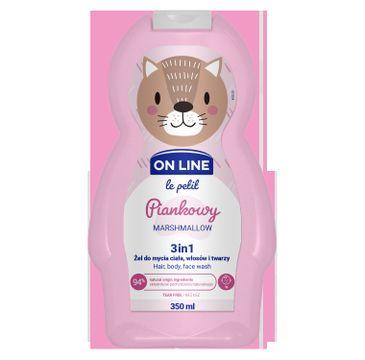 On Line – Le Petit Żel do mycia ciała,włosów i twarzy 3w1 dla dzieci Piankowy (350 ml)