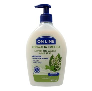 On Line mydło kremowe w dozowniku Konwalia i Melisa 500 ml