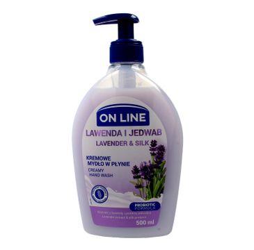 On Line mydło kremowe w dozowniku Lawenda i Jedwab 500 ml