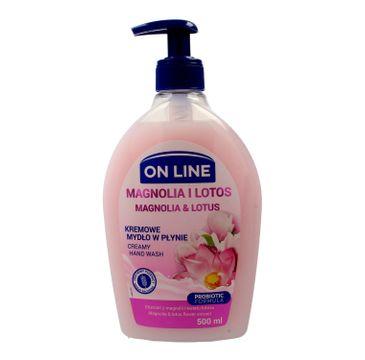 On Line mydło kremowe w dozowniku Magnolia i Lotos 500 ml