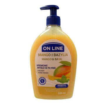 On Line mydło kremowe w dozowniku Mango i Bazylia 500 ml