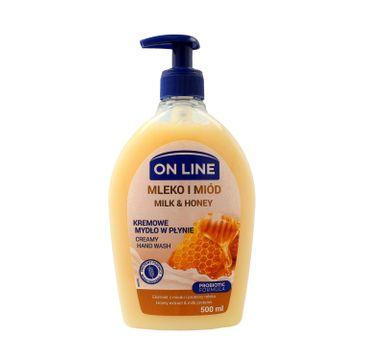 On Line mydło w dozowniku Mleko & Miód 500 ml
