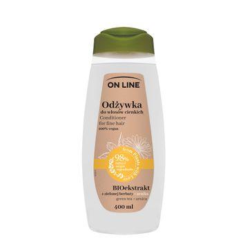 On Line – Odżywka do włosów cienkich Arnika & Zielona Herbata (400 ml)
