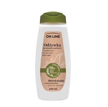 On Line – Odżywka do włosów suchych Aloes & Zielona Herbata (400 ml)