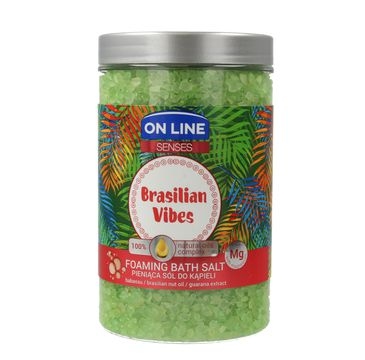 On Line Senses pieniąca sól do kąpieli Brasilian Vibes 480 ml