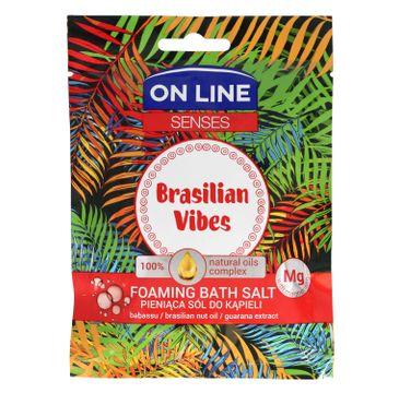 On Line Senses Pieniąca Sól do kąpieli Brasilian Vibes 80 g