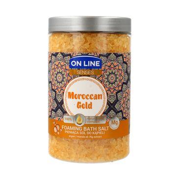 On Line Senses pieniąca sól do kąpieli Moroccan Gold 480 ml