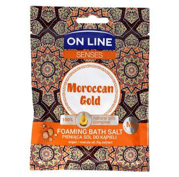 On Line Senses Pieniąca Sól do kąpieli Moroccan Gold 80 g