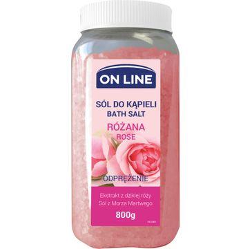 On Line sól do kąpieli różana 800 g