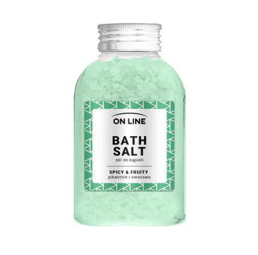 On Line – Sól do kąpieli Spicy&Fruity Green (600 g)