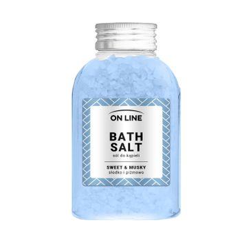 On Line – Sól do kąpieli Sweet & Musky Blue (600 g)