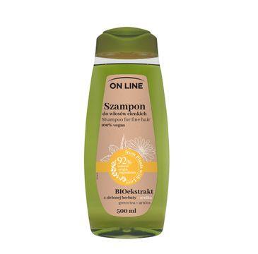 On Line – Szampon do włosów cienkich Arnika & Zielona Herbata (500 ml)
