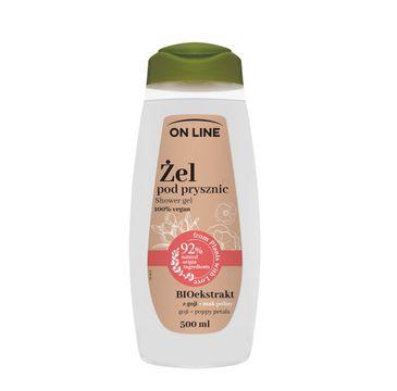On Line – Żel pod prysznic Mak Polny & Goji (500 ml)
