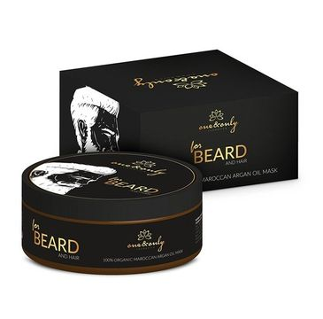 One&Only For Beard & Hair 100% Organic Maroccan Argan Oil Mask maska do brody i włosów 300g