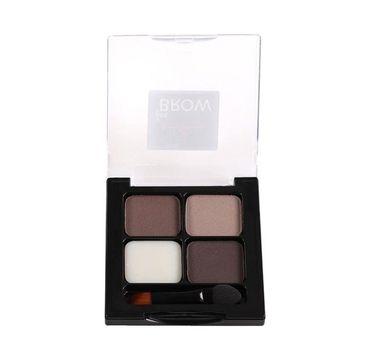 One&Only For Brows Brow Kit zestaw trzech cieni i wosku do stylizacji brwi 01 Brown 5g