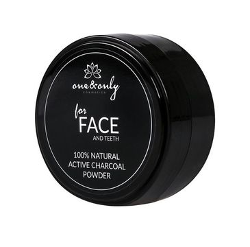 One&Only For Face And Teeth 100% Natural Active Charcoal Powder węgiel aktywny do twarzy i zębów 40g