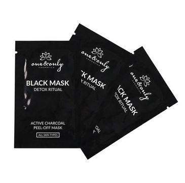 One&Only For Face Black Mask Detox Ritual głęboko oczyszczająca maska peel-off z węglem aktywnym 10x8ml