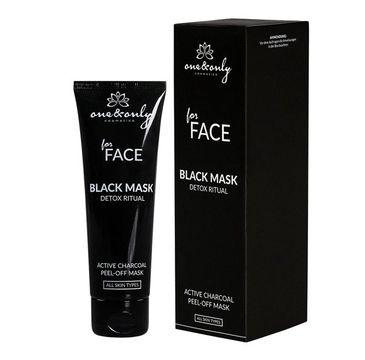 One&Only For Face Black Mask Detox Ritual głęboko oczyszczająca maska peel-off z węglem aktywnym 75ml