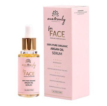 One&Only For Face Neckline Hair And Nails 100% Pure Organic Argan Oil serum z olejkiem arganowym do twarzy szyi włosów i paznokci 30ml