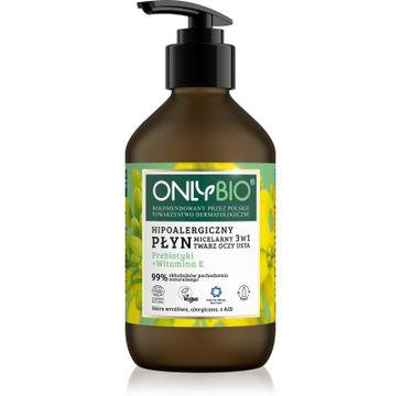 OnlyBio – Priebiotyki + Witamina E hipoalergiczny płyn micelarny 3w1 (250 ml)