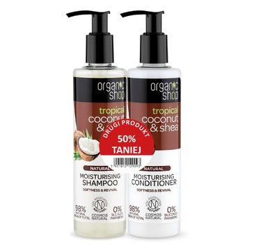 Oragnic Shop – Zestaw odżywka + szampon do włosów Coconut&Shea (2 x 280 ml)