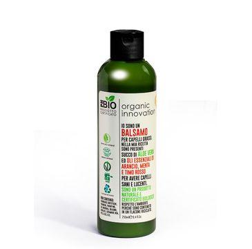 Organic Innovation Naturalna odżywka oczyszczająco-regulująca do włosów przetłuszczających się Mięta Pieprzowa i Tymianek (250 ml)