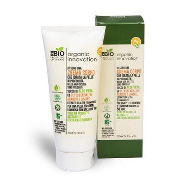 Organic Innovation Naturalny aloesowy nawilżający krem do ciała Prawoślaz i Oczar Wirginijski (200 ml)