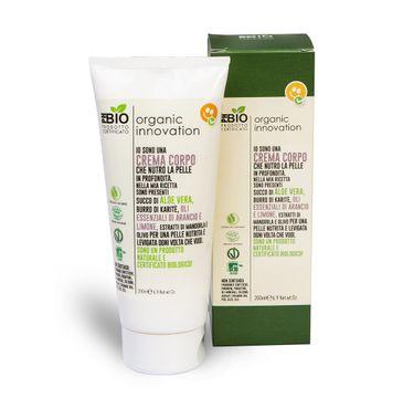 Organic Innovation Naturalny aloesowy odżywczy krem do ciała Masło Shea i Migdały (200 ml)