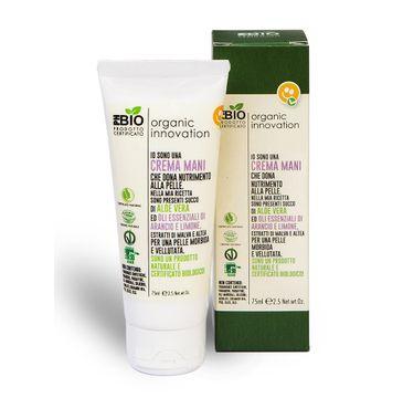 Organic Innovation Naturalny odżywczy krem aloesowy do rąk Malwa Dzika i Prawoślaz Lekarski (75 ml)