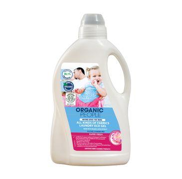 Organic People All Kids Of Fabrics Laundry Eco Gel żel do prania tkanin z ekstraktem z lotosu 1500ml