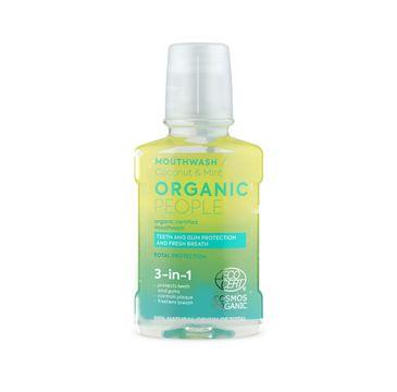 Organic People Mouthwash płyn do płukania jamy ustnej Coconut & Mint (250 ml)