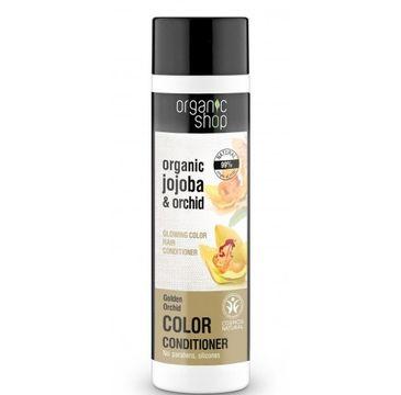 Organic Shop balsam do włosów farbowanych złota orchidea 280 ml