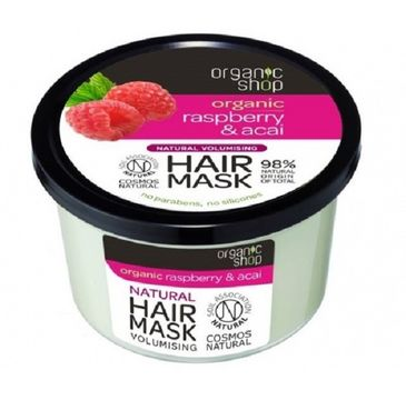 Organic Shop Hair Mask maska nadająca objętość włosów Malina & Acai 250ml