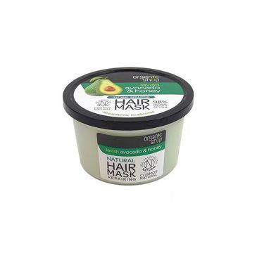 Organic Shop Hair Mask maska rewitalizująca do włosów Awokado & Miód 250ml