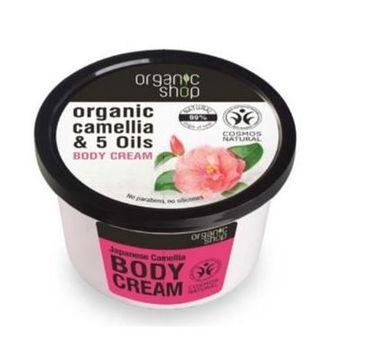 Organic Shop krem do każdego typu skóry odżywczy japońska kamelia 250 ml