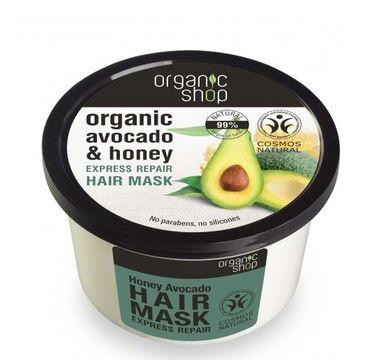 Organic Shop maska do włosów organiczne awokado i miód 250 ml