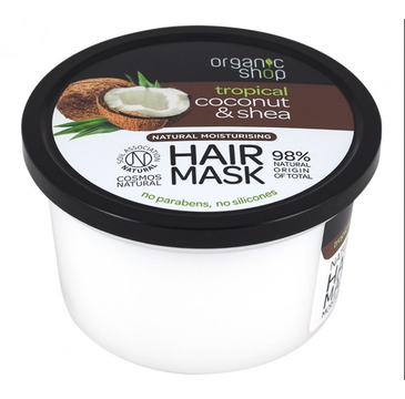 Organic Shop Natural Moisturising Hair Mask naturalna nawilżająca maska do włosów Coconut & Shea (250ml)