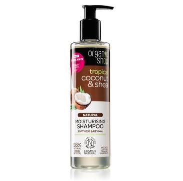 Organic Shop Natural Moisturising Shampoo naturalny szampon nawilżający Coconut & Shea (280ml)