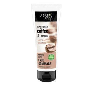 Organic Shop Organic Coffee & Limonnik Face Gommage delikatny peeling do twarzy 75ml