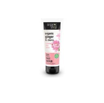 Organic Shop Organic Ginger & Cherry Cleansing Face Scrub oczyszczający scrub do twarzy 75ml